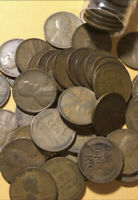 DISCOUNTED LOT641- ROLL OF  ABOUT 50 LINCOLN CENTS 1927 MOST GOOD COND
