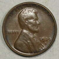 1924-S LINCOLN CENT, ALMOST UNCIRCULATED, ORIGINAL BETTER DATE        0111-08