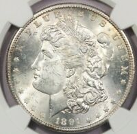 1891-S 1891 MORGAN SILVER DOLLAR NGC MINT STATE 63