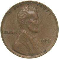 1951 LINCOLN WHEAT CENT EXTRA FINE PENNY EXTRA FINE