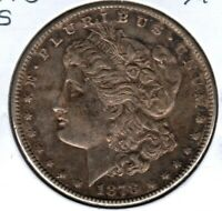 1878-S MORGAN SILVER DOLLAR  GRADES CHOICE EXTRA FINE TONED  C4279