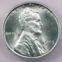 1943-P 1943 LINCOLN MEMORIAL CENT ICG MINT STATE 60 DETAILS