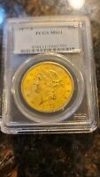 1877 S GOLD LIBERTY HEAD COIN $20 DOUBLE EAGLE  NGC MS61