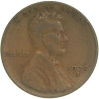 1937 S LINCOLN WHEAT CENT FINE PENNY FN