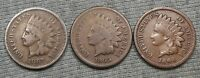 LOT OF 3 INDIAN HEAD CENT   1864 1865 & 1867