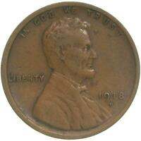 1918 D LINCOLN WHEAT CENT  FINE PENNY VF