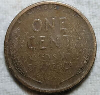 ERROR 1919 S WHEAT CENT LARGE STRUCK THROUGH GREASE REVERSE