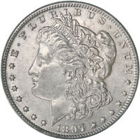 1897 MORGAN SILVER DOLLAR ABOUT UNCIRCULATED AU