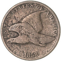 1858 FLYING EAGLE CENT SMALL LETTERS  GOOD PENNY VG SEE PICS F697