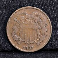 1867 TWO CENT PIECE - VG 35229