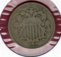 1882 SHIELD NICKEL GRADES GOOD AU1582