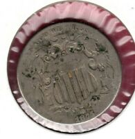 1875 SHIELD NICKEL GRADES  GOOD AU1580