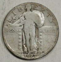 1927-S STANDING LIBERTY QUARTER, KEY DATE, JUST ABOUT GOOD   0125-08
