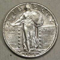 1928-D STANDING LIBERTY QUARTER, ALMOST UNCIRCULATED,     0125-13