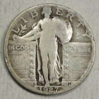 1927-S STANDING LIBERTY QUARTER, KEY DATE, JUST ABOUT GOOD  0125-07