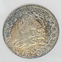 1820 CAPPED BUST DIME 10C SMALL 0 AU50