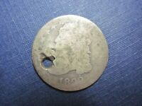 CIRCULATED 1823 HOLED CAPPED BUST DIME UNGRADED UNCERTIFIED