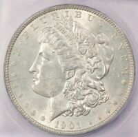 1901-P 1901 MORGAN SILVER DOLLAR ICG MINT STATE 60 BEAUTIFUL AND FLASHY
