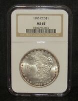 1885 CC MORGAN DOLLAR NGC MINT STATE 65