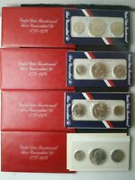 LOT OF FOUR 1976 UNITED STATES BICENTENNIAL SILVER UNCIRCULA