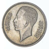 SILVER ROUGHLY THE SIZE OF A QUARTER 1938 IRAQ 50 FILS WORLD