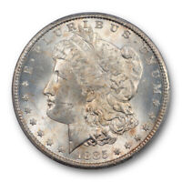1885 CC $1 MORGAN DOLLAR PCGS MINT STATE 65 UNCIRCULATED CARSO CITY MINT LIGHTLY TONE