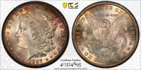 1887 S $1 MORGAN DOLLAR PCGS MINT STATE 63 UNCIRCULATED BEAUTIFULLY TONED PRETTY  CE