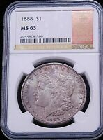 1888 P MORGAN DOLLAR SPECIAL OFFICIAL RED BOOK HOLDER NGC MINT STATE 63 GC778