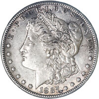 1887 S MORGAN SILVER DOLLAR EXTRA FINE EXTRA FINE  SEE PICS F990