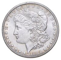1884 CC MORGAN SILVER DOLLAR   VERY TOUGH   HIGH REDBOOK