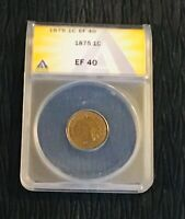 1875 INDIAN HEAD PENNY ANACS EF-40. PROBLEM FREE BEAUTIFUL CENT COMBINE SHIP.