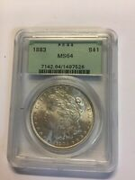 ONE   1883 MORGAN SILVER DOLLAR MINT STATE 64