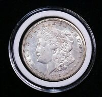 1921-S MORGAN SILVER DOLLAR AU BRIGHT WITH LUSTER IN AIRTIGHT CAP CF12