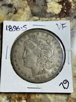 1896 S MORGAN SILVER DOLLAR/  VF OR  EXTRA FINE ? NOT CLEANED