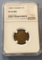 1909 S INDIAN HEAD CENT KEY DATE NGC VF 35