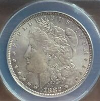 1882 MORGAN SILVER DOLLAR ANACS MINT STATE 63  COIN HERE AFL4107