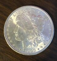 1900 MORGAN SILVER DOLLAR CHOICE UNCIRCULATED  COIN HERE C4820