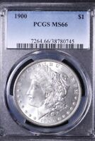 1900 MORGAN SILVER DOLLAR PCGS MINT STATE 66 CLEAN CHEEK  COIN SHIPS FREE 8-KNMT