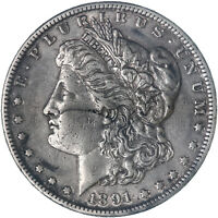 1891 S MORGAN SILVER DOLLAR EXTRA FINE EXTRA FINE  SEE PICS F996