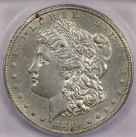 1889-S 1889 MORGAN SILVER DOLLAR ICG MINT STATE 60 DETAILS