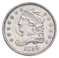 1834 CAPPED BUST HALF DIME   CHARLES COIN COLLECTION  329