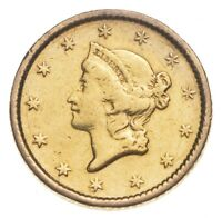 1854 $1 LIBERTY HEAD GOLD DOLLAR   CHARLES COIN COLLECTION
