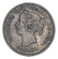BETTER DATE   1885 CANADA 5 CENTS   SILVER  800