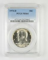 MS64 1970 D KENNEDY HALF DOLLAR   GRADED PCGS  440