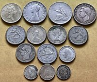 COIN LOT 14 SILVER FOREIGN WORLD COINS ITALY FINLAND CANADA