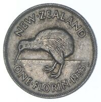 1933 NEW ZEALAND 1 FLORIN   CHARLES COIN COLLECTION  908