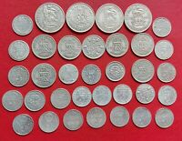 JOB LOT OF OLD AND COLLECTABLE SILVER COINS