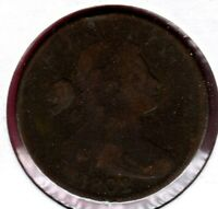 1802 STEMLESS WREATH DRAPED BUST LARGE CENT CIRCULATED C2248