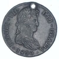BETTER DATE   1820 COLONIAL BOLIVIA 8 REALES   SILVER  105