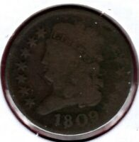 1809 CLASSIC HEAD HALF CENT GRADES GOOD ROTATED DIE  C4263